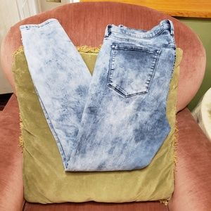 Buffalo David Bitton Faith Skinny Jeans Acid Wash